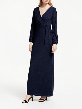 a07606d850f Lauren Ralph Lauren Rebekah Evening Dress, Navy Metallic at John ...