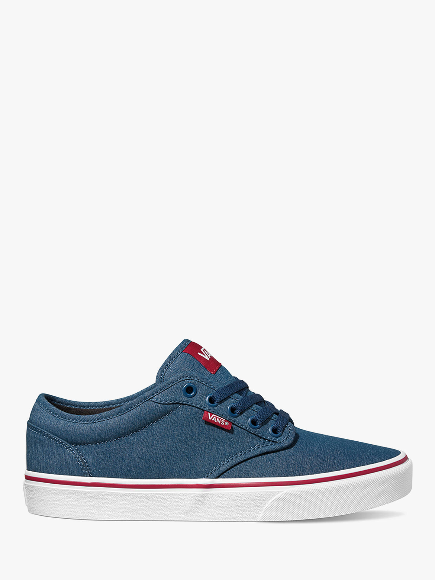 81b07e81ed Vans Atwood Canvas Trainers, Sailor Blue/Tango at John Lewis & Partners