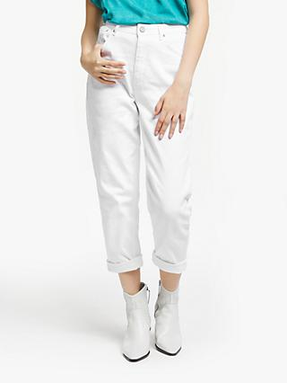 AND/OR Santa Barbara Barrell Jeans, White