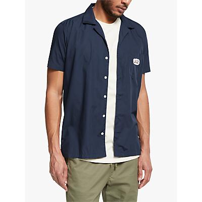 Far Afield Short Sleeve Jazz Bowling Shirt, Blue