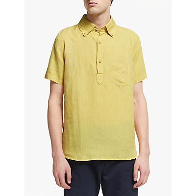 Far Afield Short Sleeve Ivy Linen Shirt, Olivenite