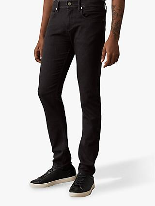 Reiss Lasoo Stretch Cotton Slim Jeans, Washed Black