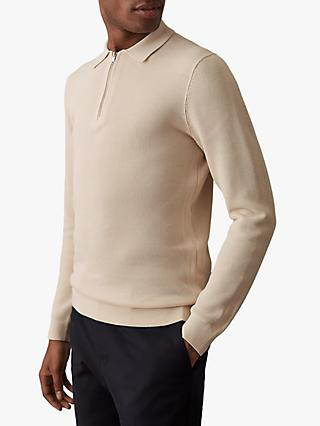 Reiss Timothy Half Zip Polo Shirt