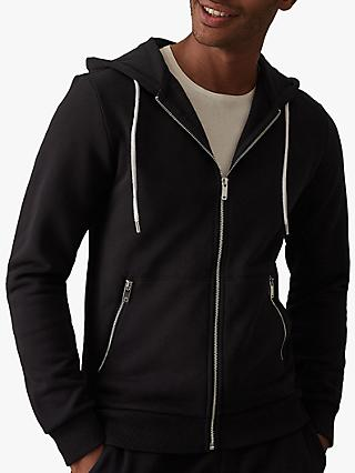 Reiss Avery Zip Through Hoodie, Navy