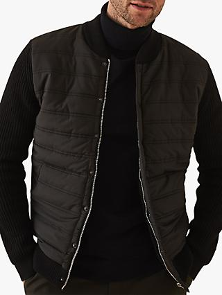 efc2c35493 Reiss Watson Long Sleeve Quilted Bomber Jacket