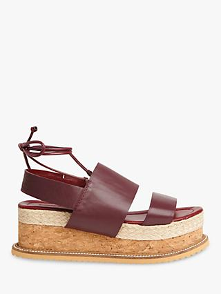 Whistles Rae Tie Up Flatform Sandals