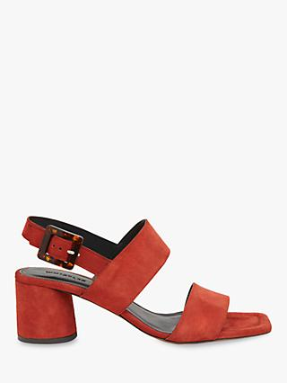 Whistles Avery Buckle Sandals, Rust Suede