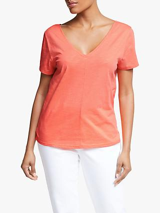 Collection WEEKEND by John Lewis V-Front V-Back T-Shirt, Orange