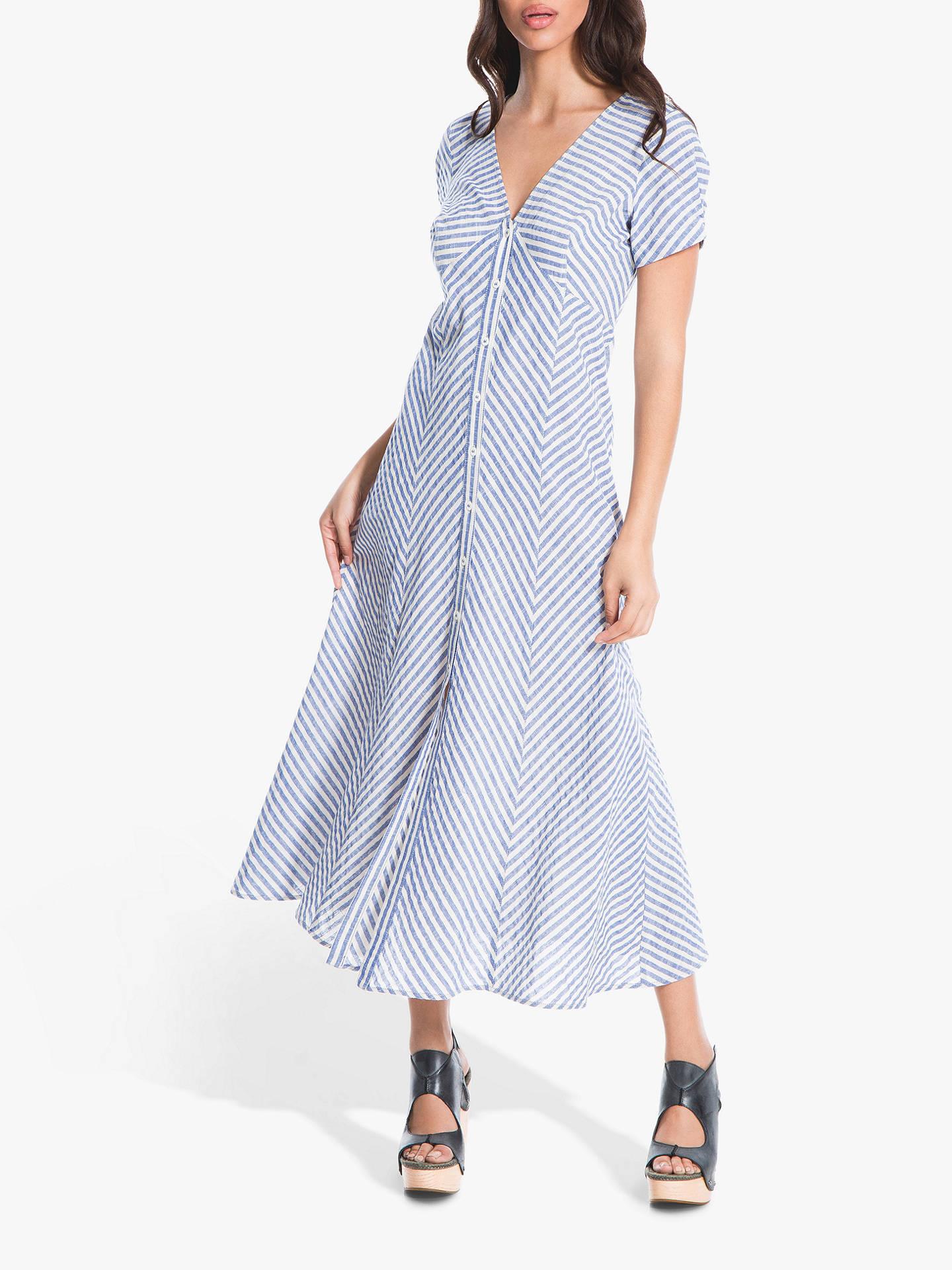 c1d76d59b Buy Max Studio Stripe Midi Dress, Blue/White, 12 Online at johnlewis.