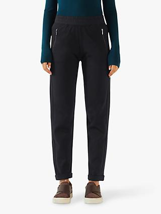 Jigsaw Luxe Zip Detail Trackpant, Navy