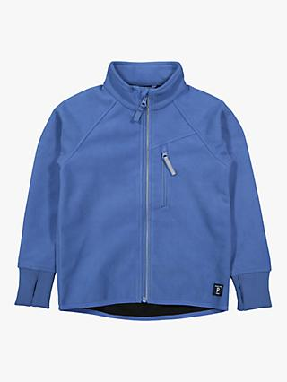 Polarn O. Pyret Children's Waterproof Fleece Jacket, Blue