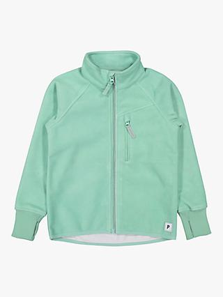 Polarn O. Pyret Children's Waterproof Fleece Jacket, Green
