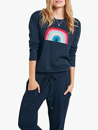 hush Glitter Rainbow Jumper, Navy