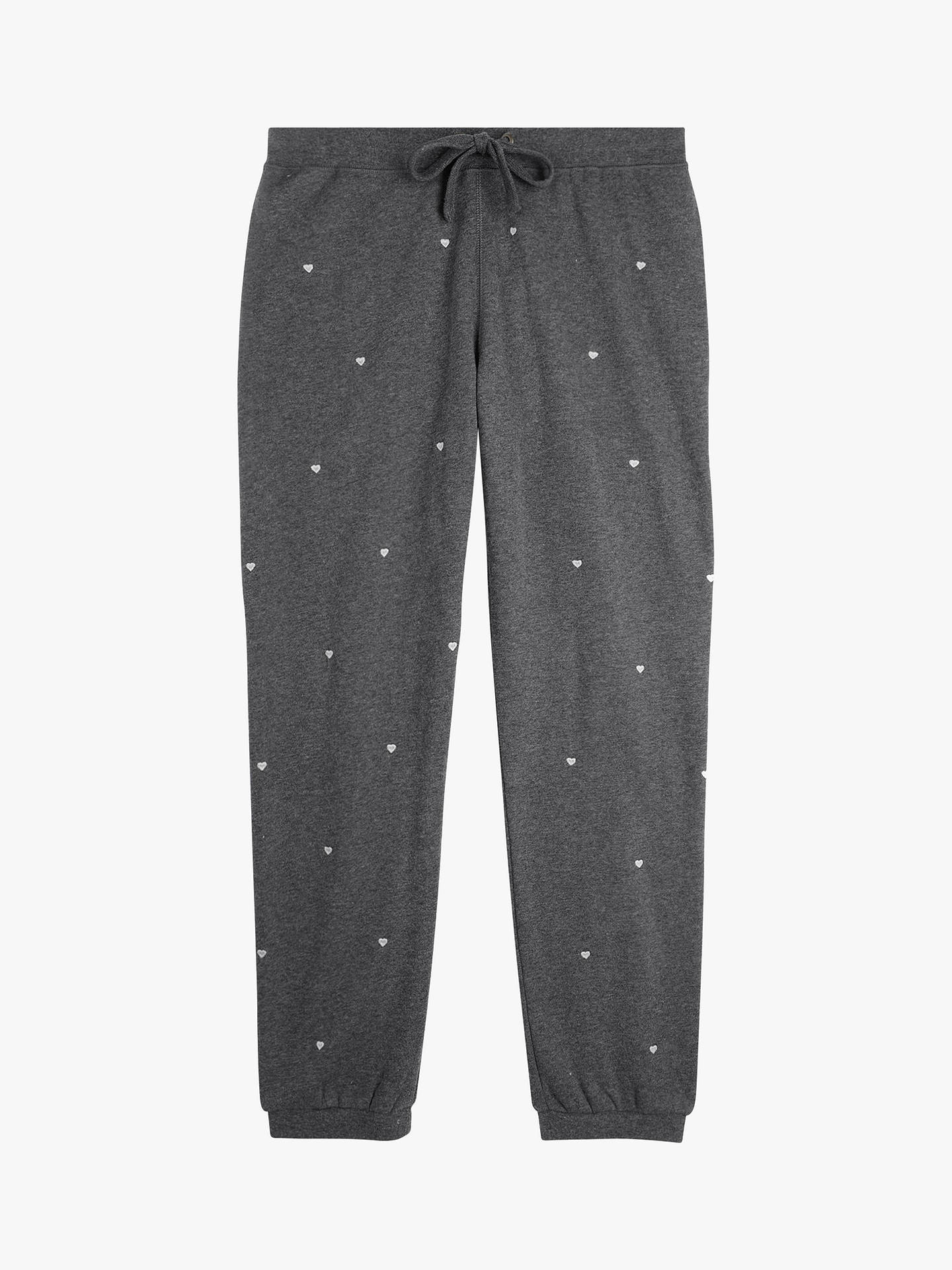 Buyhush Embroidered Heart Joggers, Charcoal Grey, L Online at johnlewis.com
