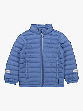 Polarn O. Pyret Children's Puffer Jacket, Blue
