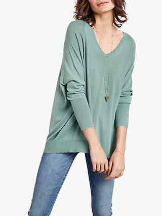 hush Beatrice Oversized V-Neck Jumper