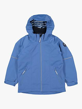 Polarn O. Pyret Children's Waterproof Shell Coat, Blue