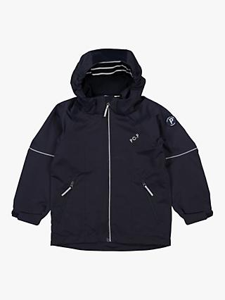 Polarn O. Pyret Children's Waterproof Shell Coat, Navy