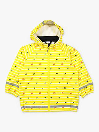 Polarn O. Pyret Children's Frog Raincoat, Yellow
