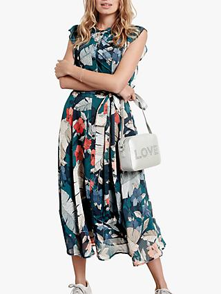 hush Elspeth Floral Ruffle Dress, Hibiscus Print
