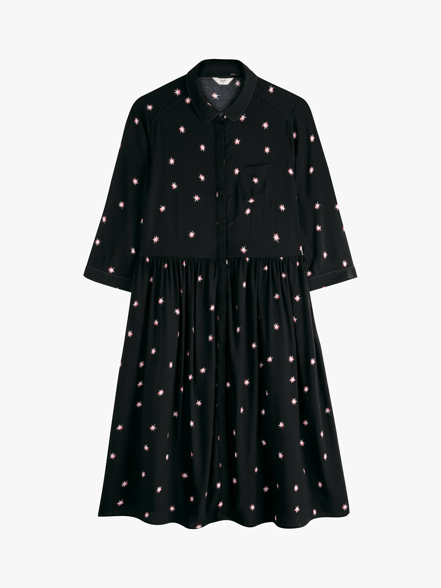 Buyhush Farah Star Midi Dress, Firework Star Black, 10 Online at johnlewis.com