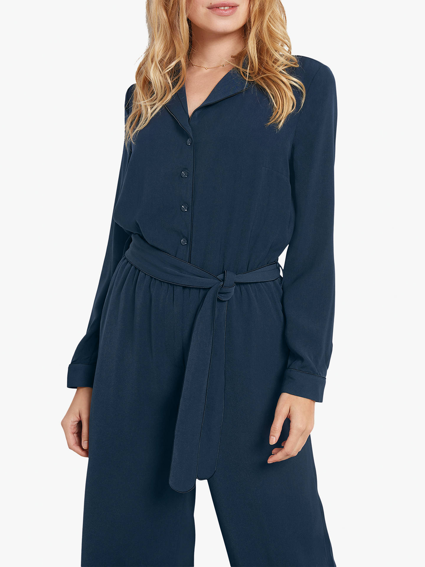 Buy hush Dolly Jumpsuit, Midnight/Black, 12 Online at johnlewis.com