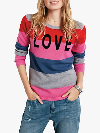 hush Davey Love Colour Block Jumper, Multi