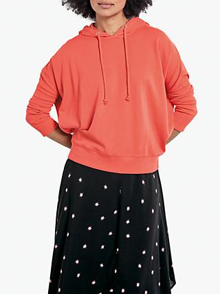 hush Sloppy Joe Hooded Sweat Top, Coral