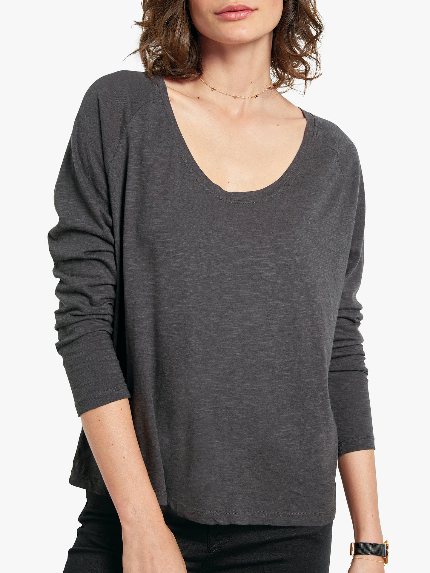 Buyhush Avalon Long Sleeve T-Shirt, Grey, L Online at johnlewis.com