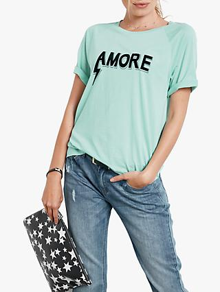 hush Amore Short Sleeve T-Shirt, Eggshell Blue