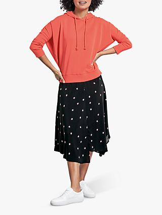 hush Monroe Firework Star Print Skirt, Black