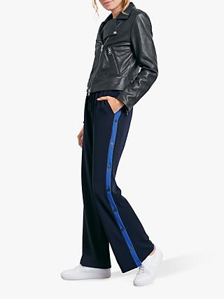 hush Logan Popper Trousers, Midnight Blue