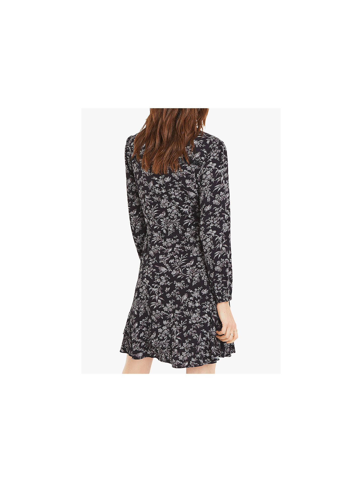 BuyOasis Rose Bird Shirt Dress, Blue/Multi, 6R Online at johnlewis.com