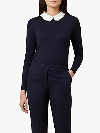 Hobbs Liv Top, Navy/Ivory