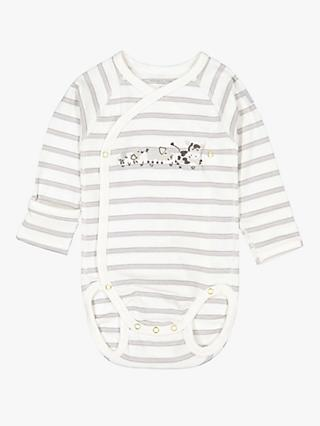 8487be612d Polarn O. Pyret Baby Organic Cotton Stripe Wraparound Bodysuit