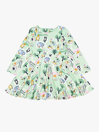 Polarn O. Pyret Children's Play Scene Dress, Green/Multi