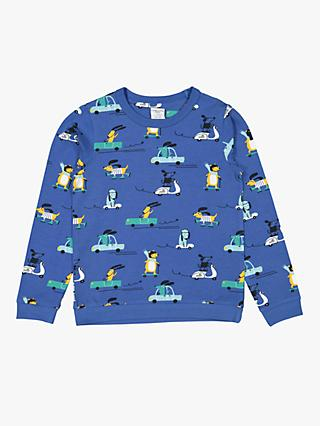 Polarn O. Pyret Children's Dog Print Top, Blue