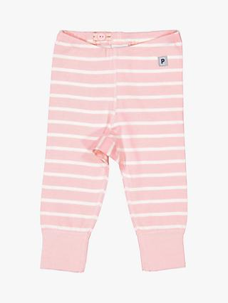 Polarn O. Pyret Baby Stripe Leggings, Pink