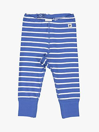 Polarn O. Pyret Baby Stripe Leggings, Blue