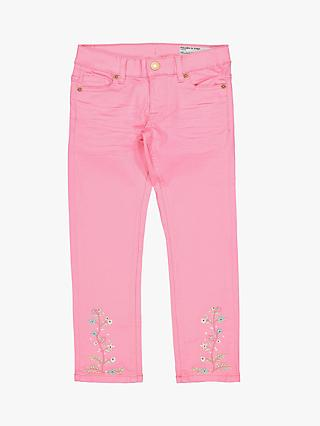 Polarn O. Pyret Children's Twill Slim Fit Jeans, Pink