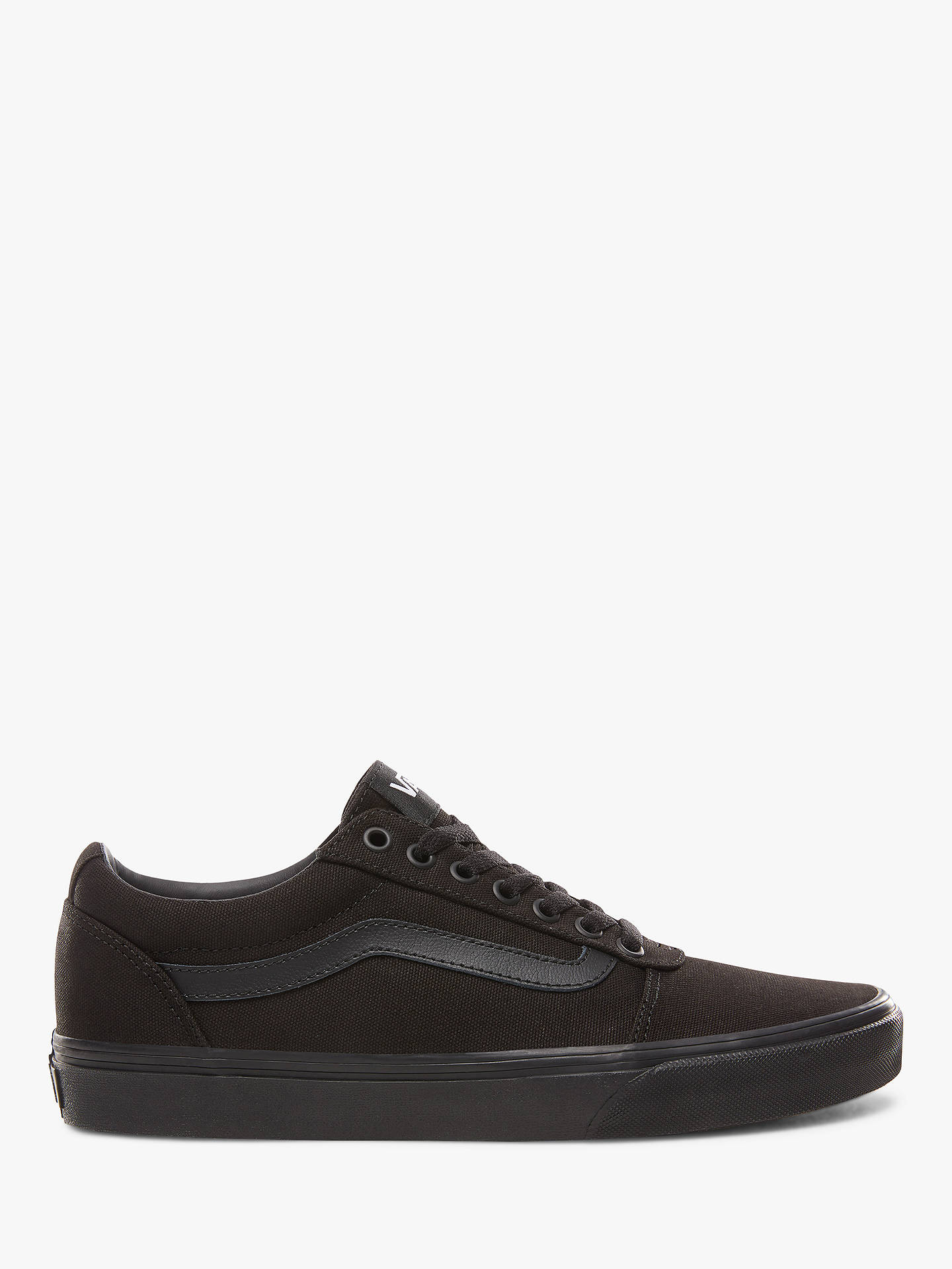 beaf62e1b Buy Vans Ward Trainers, Black, 11 Online at johnlewis.com ...