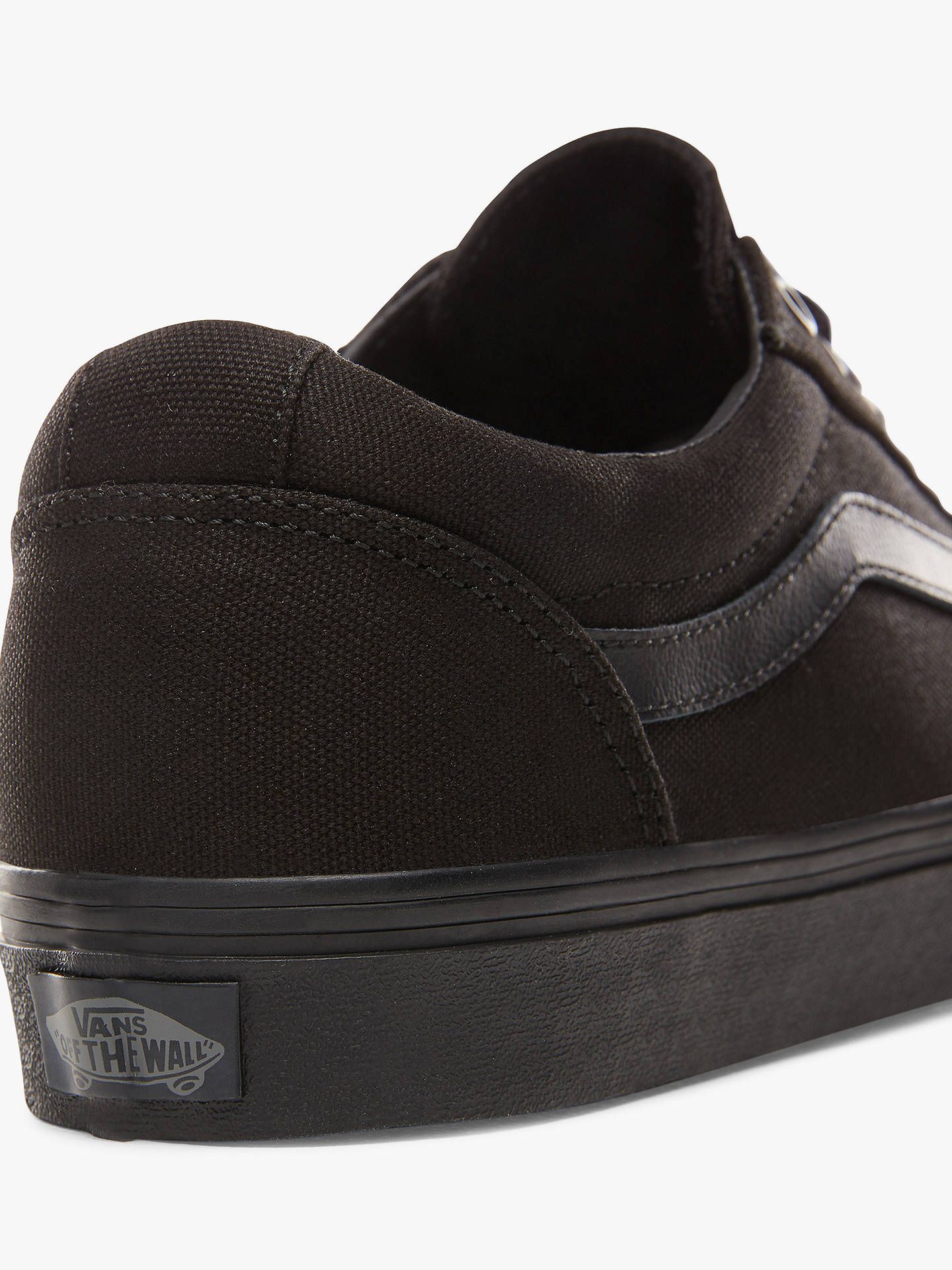 21d0f8c31 ... Buy Vans Ward Trainers, Black, 11 Online at johnlewis.com ...