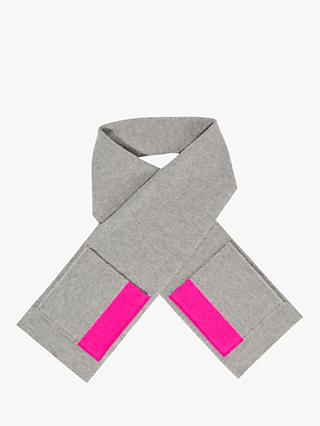 Jigsaw Children's Neon Pop Scarf, Light Grey