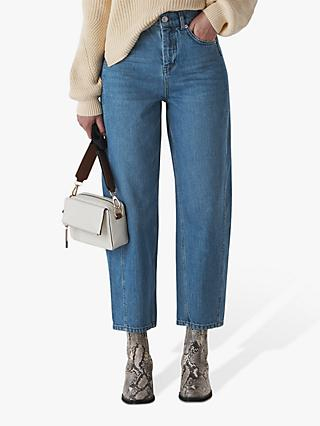 Whistles Mid Wash High Waist Jeans, Denim