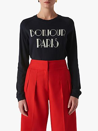Whistles Bonjour Paris Jumper, Navy