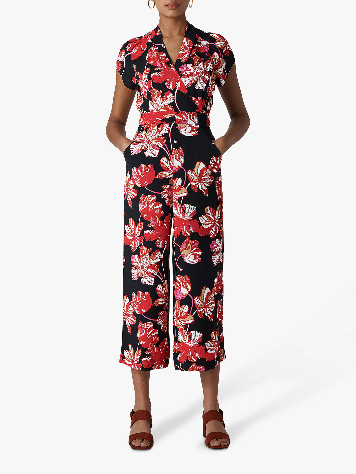 superior quality really comfortable top-rated authentic Whistles Tulip Mariana Jumpsuit, Multi