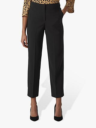 Whistles Kate Classic Tailored Wool Trousers, Black