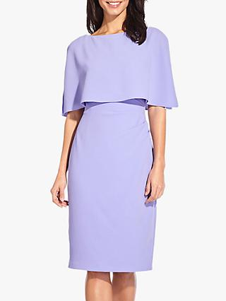 Adrianna Papell Boat Neck Overlay Dress, Smoky Hyacinth