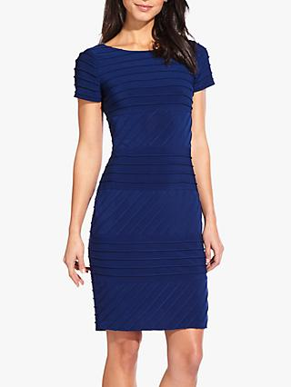 Adrianna Papell Matte Jersey Bodycon Dress, Navy Sateen