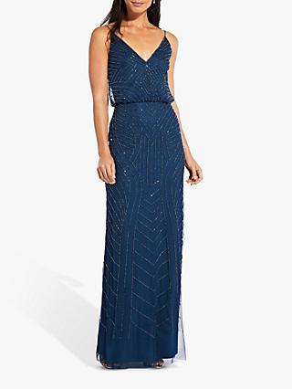6619d80a6e0 Adrianna Papell Blouson Beaded Maxi Dress